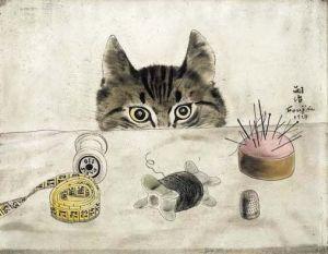 Léonard Foujita, Chat couturier, 1927