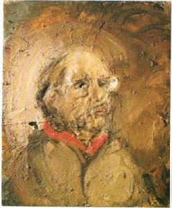 Miquel Barcelo, Evgen à l'écharpe rouge, 1995