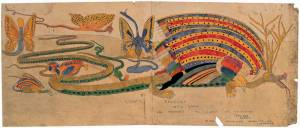 Henry Darger, Gigantic Roverine with young all poisonous all islands of universan seas and oceans also in, 1930-1972