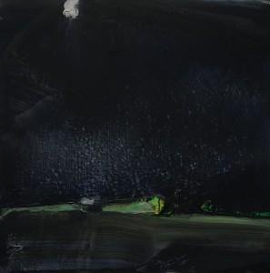 Olivier Debré, Lysne noir, 1974, Galerie Haaken, Oslo