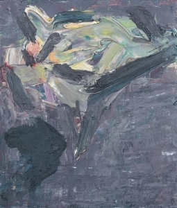 Frank Auerbach, Reclining head of J.Y.M., 1974-1975, collection particulière