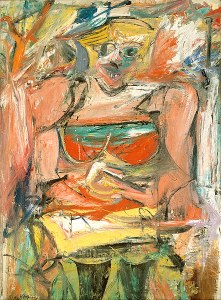 Willem de Kooning, Woman V, 1952-1953, National Gallery of Australia, Canberra